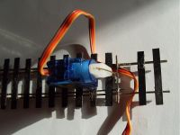 Use of servo as point motor  [servo_point_motor.jpg uploaded 22 Nov 2009]