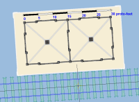 Brian's Midland Railway cattle dock on workpad.  [brian_cattle_dock_on_pad.png uploaded 16 Sep 2010]