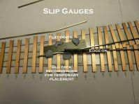 Slip gauges in use during turnout construction.  [Slip gauges.JPG uploaded 29 Jun 2014]