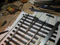 Creating a vee using the track itself as a jig.   [First_Points_Vee.JPG uploaded 20 Jan 2011]